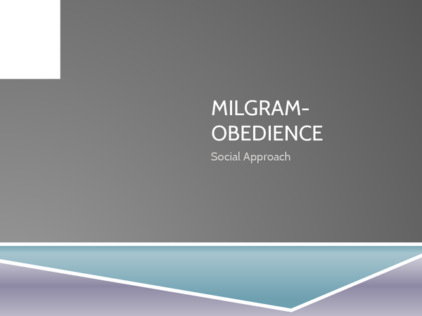 Preview of Milgram- Obedience