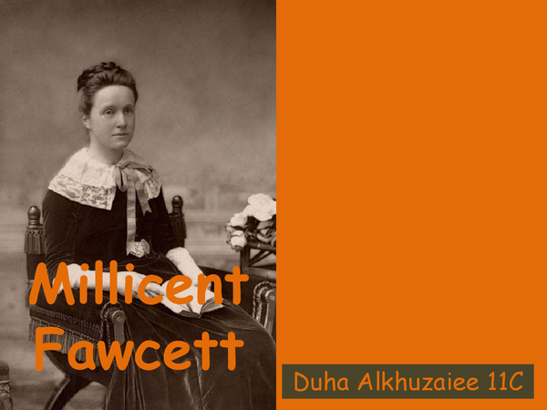 Preview of millicent fawcett powerpoint