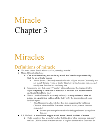 Preview of miracles revision