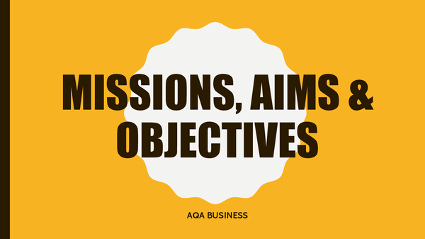 Preview of Missions Aims Objectives