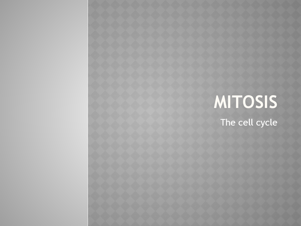 Preview of Mitosis