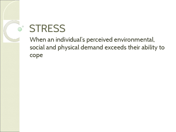 Preview of stress