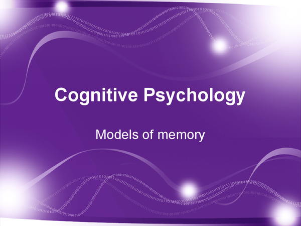 Preview of Models of Memory Revision