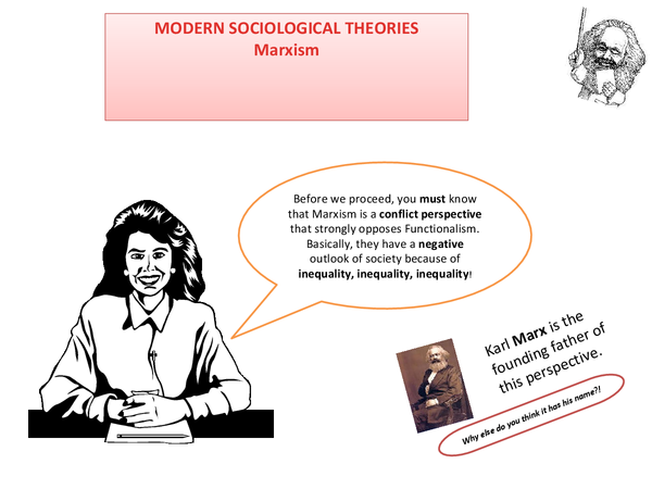 Preview of Modern Sociological Theories - Marxism