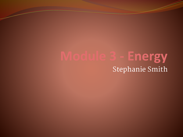 Preview of Module 3 -energy for UNIT 2 Chemsitry AS
