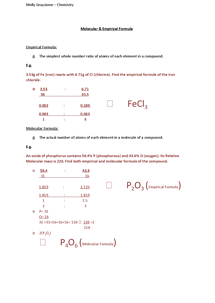 Preview of Molecular and Empirical Formula - As OCR Chemistry Unit 1