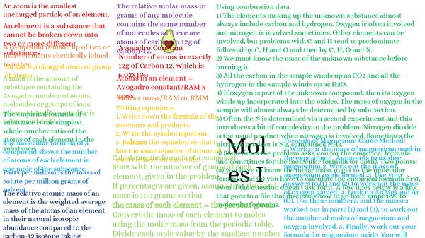 Preview of Moles I