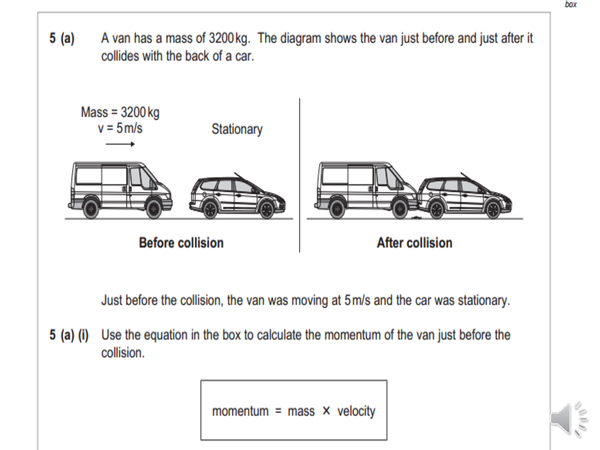 Preview of Momentum Exam Question - AQA