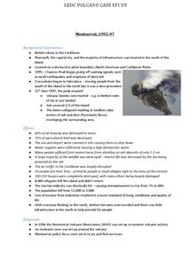 Preview of Montserrat Eruption Case Study