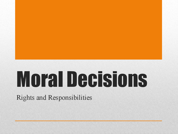 Preview of Moral Decisions Revision