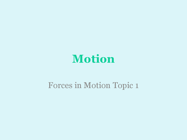 Preview of Motion