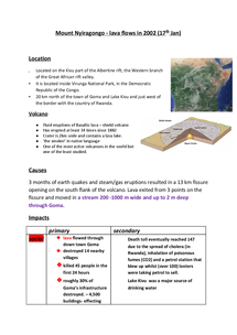 Preview of Mount Nyiragongo 2002 eruption case study
