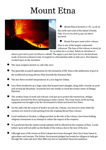 Preview of Mount Etna Case Study