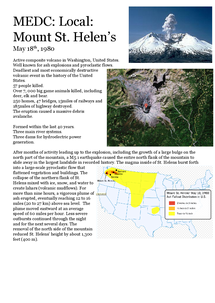Preview of Mount St Helens 1980 Case Study