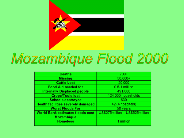 Preview of Mozambique Floods 2000 - Case Study