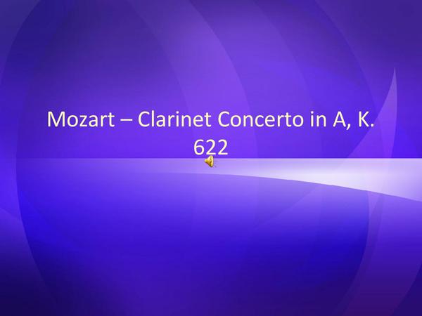 Preview of Mozart Clarinet Concerto in A major III - Rondo