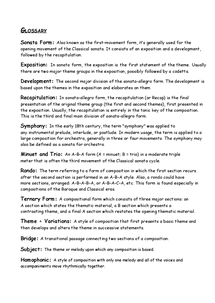 Preview of Mozart Glossary