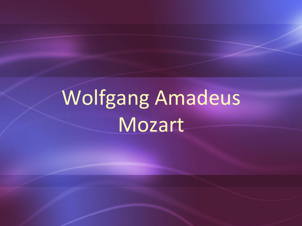 Preview of Mozart's Life
