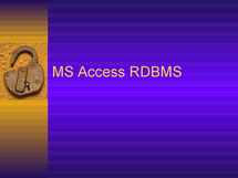 Preview of MS Access
