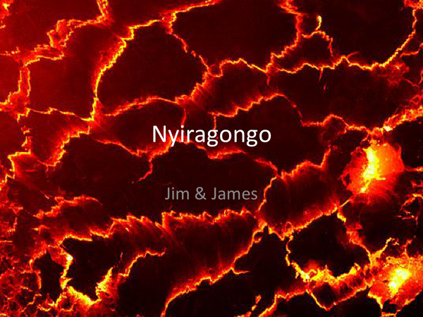 mt nyiragongo essay A stream of liquid lava flows from the lava lake at mount nyiragongo, democratic republic of congo a lava lake forms as magma from deep in the earth wells up and collects in a crater or vent.