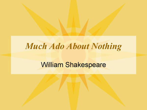 Preview of Much Ado About Nothing notes.