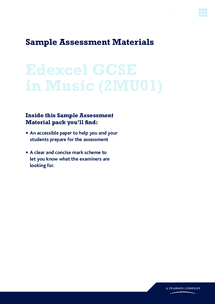 Preview of Music GCSE exam past paper 2009