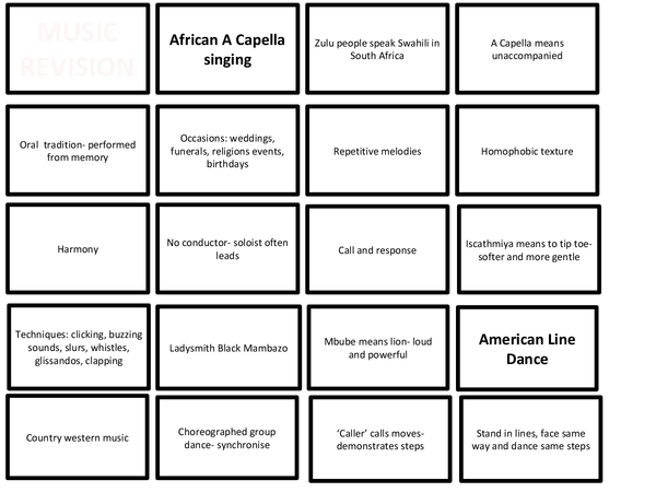 Preview of Music revision cards for OCR GCSE