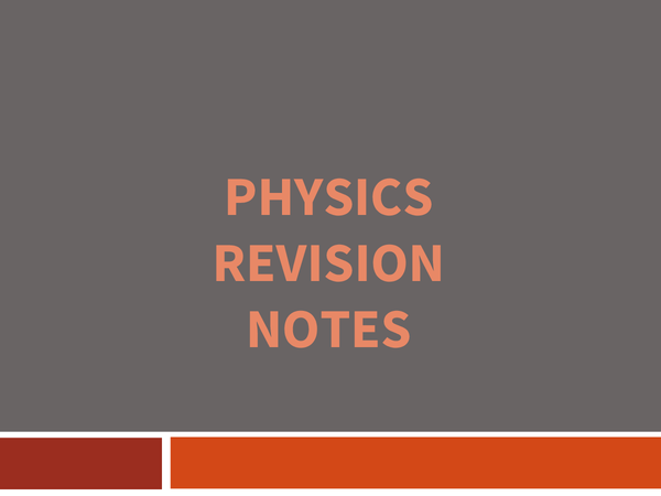 Preview of Must Know Revision Notes For Physics Exam GCSE Ocr 21st Century