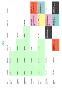 Preview of My personal revision timetable, may help others