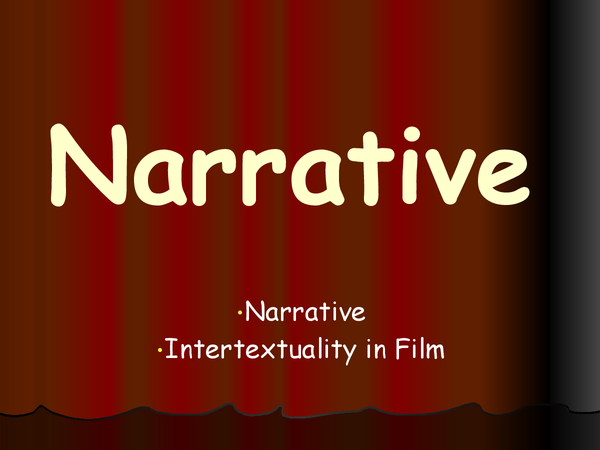 Preview of narrative Theory and theorists