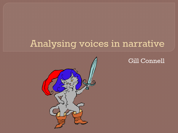 Preview of Narrative voices