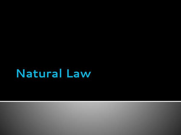 Preview of Natural Law