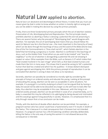 Preview of Natural Law applied to abortion