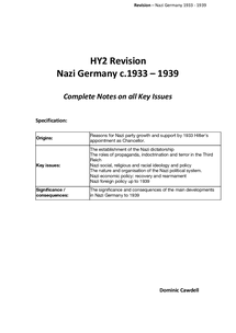 Preview of Nazi Germany 1933-39 - Complete guide for AS