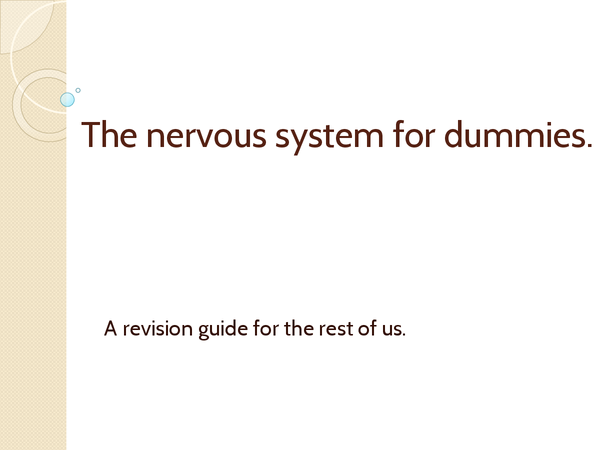 Preview of Nervous System for Dummies