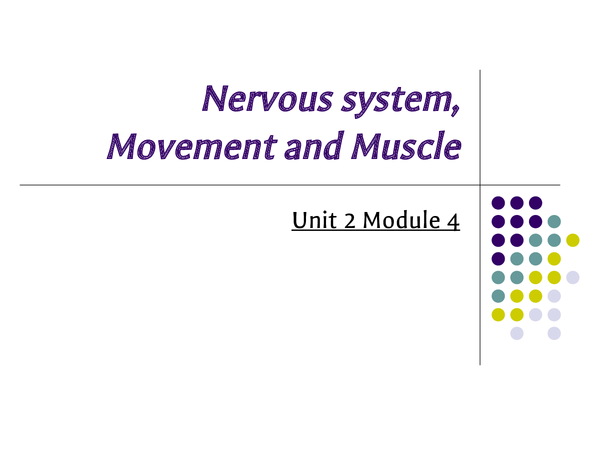 Preview of Nervous system, movement and muscle
