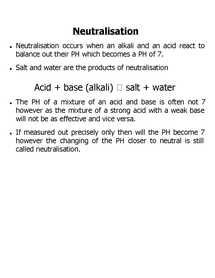 Preview of neutralisation