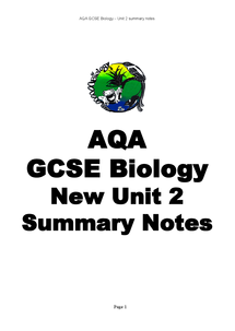 Preview of New Unit 2 Summary Notes