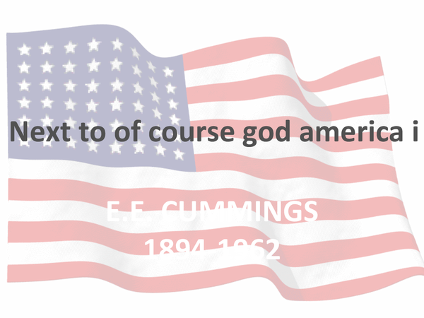 Preview of Next To Of Course God America I