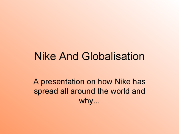 Preview of Nike globalisation