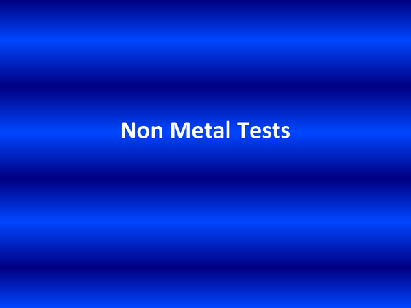 Preview of non metal tests for elements