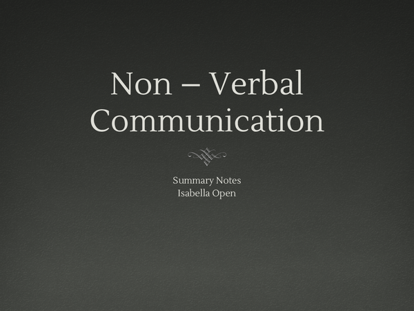 Preview of Non-verbal communication Powerpoint