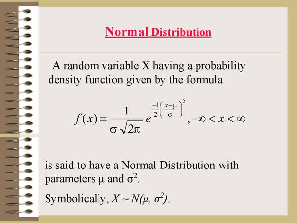 Preview of Normal distribution