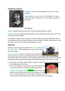 Preview of Notes on Descartes' Meditations