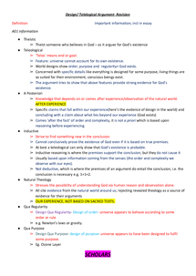 Preview of Notes on Design Argument A01 and A02
