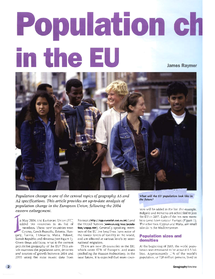 Preview of Notes on Population changes in the EU - AQA Geog