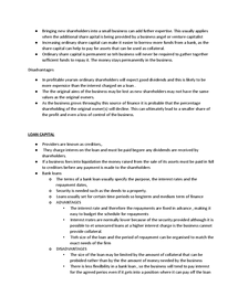 Preview of notes on raising finance for business stidies unit 1 as level