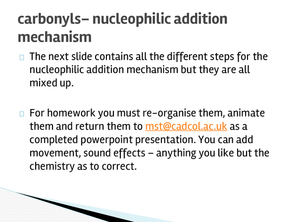 Preview of Nucleophillic Substitution: Reduction of Carbonly compounds