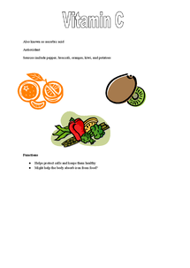 Preview of Nutrition lesson type up notes