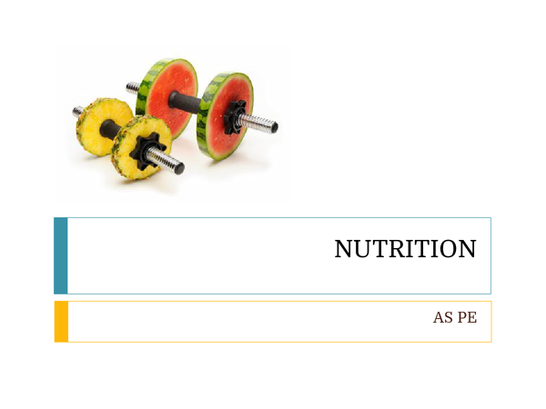 Preview of Nutrition - PE